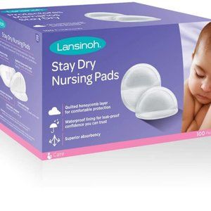 Lansinoh Stay Dry Disposable Nursing Pads, Pk 100